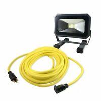 Husky 14/3 50 ft. Yellow Extenstion Cord with 1,000 Lumen Work Light