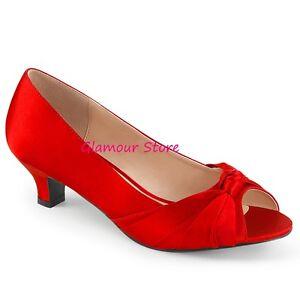 De Cm Chaussures 5 Rouge Glamour Decolte Chic A 39 Sexy Satin 46 Mode La 'Heel De zEqpxgX