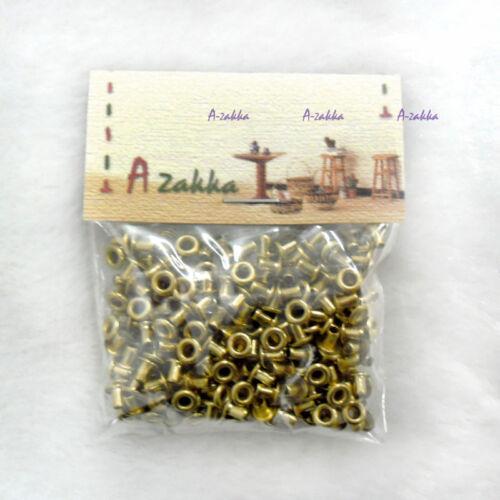 NDA035SXGLD 1//6 Doll Dress Making DIY Crafts Metal Mini Eyelet 2mm GOLD 300pcs