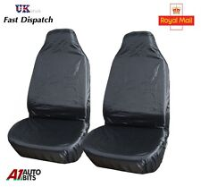 HEAVY DUTY BLACK WATERPROOF CAR SEAT COVERS BUCKET SEATS -PAIR