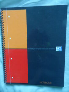 NOTEBOOK  Oxford International   80 Pages Petits Carreaux 5x5