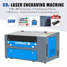 Omtech Upgraded 50w 12x20 Co2 Laser Engraver Cutter With Rotary Axis A Amp Ruida