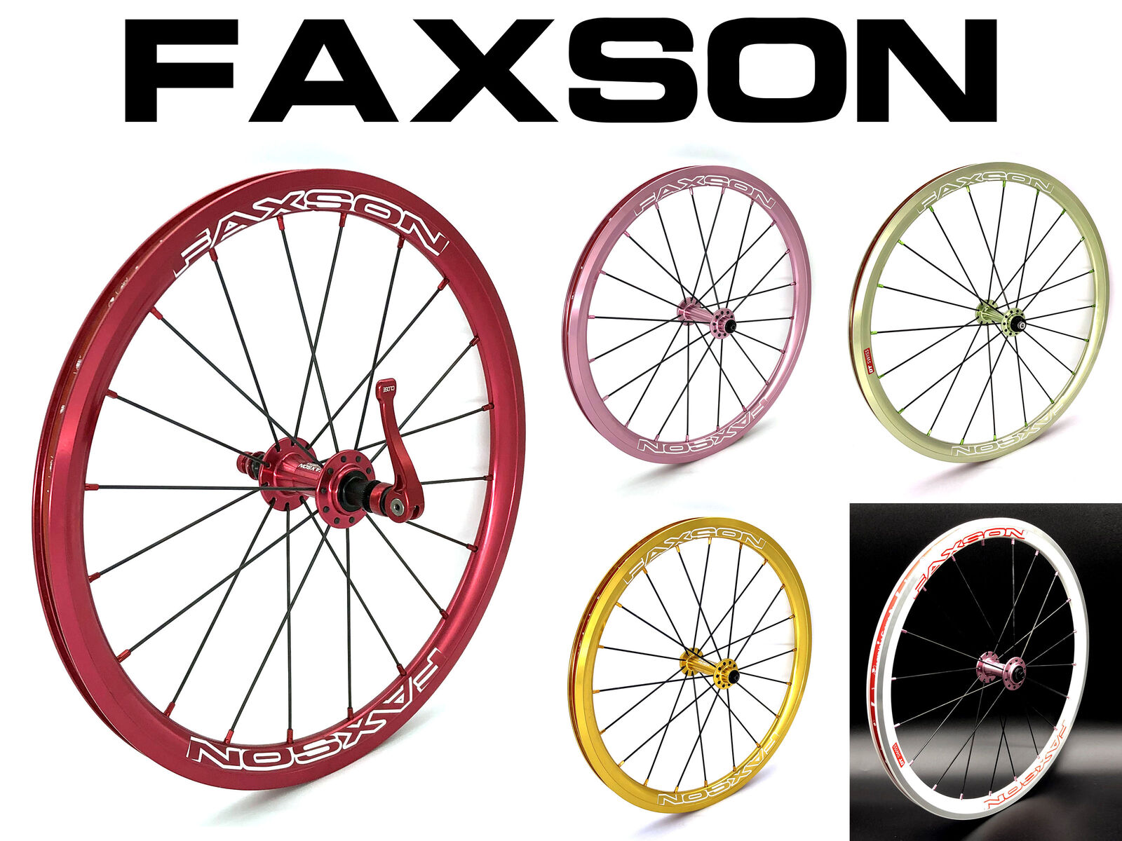 Faxson colorful Wheelset (Rim Brake) - 20 (406)   18 (355 Birdy)