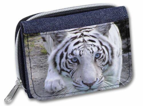 Siberian White Tiger Girls//Ladies Denim Purse Wallet Christmas Gift Ide AT-14JW