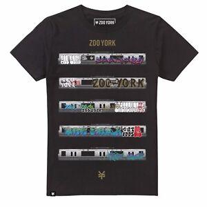 Da-Uomo-Zoo-York-tracce-SUBWAY-Metro-Metropolitana-Graffiti-T-Shirt-Tee-Nero