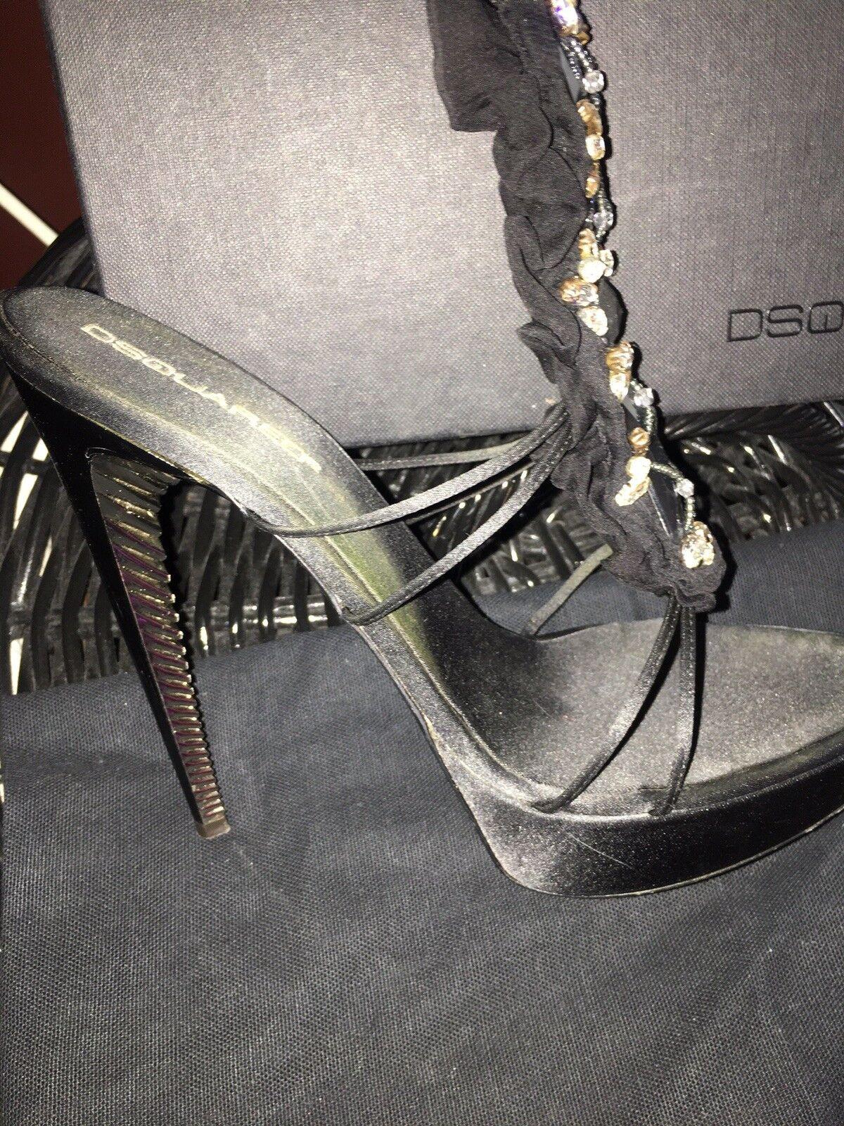 DSQUArojo DSQUArojo 2 D2 Para Mujer Zapatos Stillettos Talla 39 Tobillo Wrap