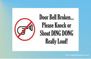 1 x please ring the door bell sticker for door window
