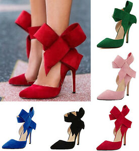 Women-039-s-Pointed-Toe-Suede-11CM-Stiletto-High-Heels-Classic-Shoes-Plus-Size-Party