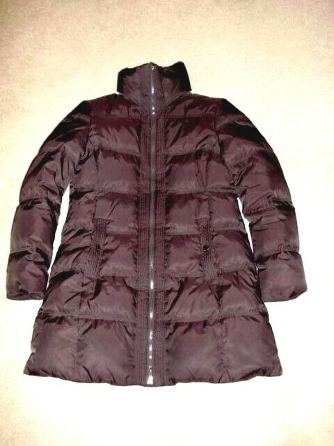 Kenneth Cole Reaction Women's Brown Down Filled Puffer Coat Size Large