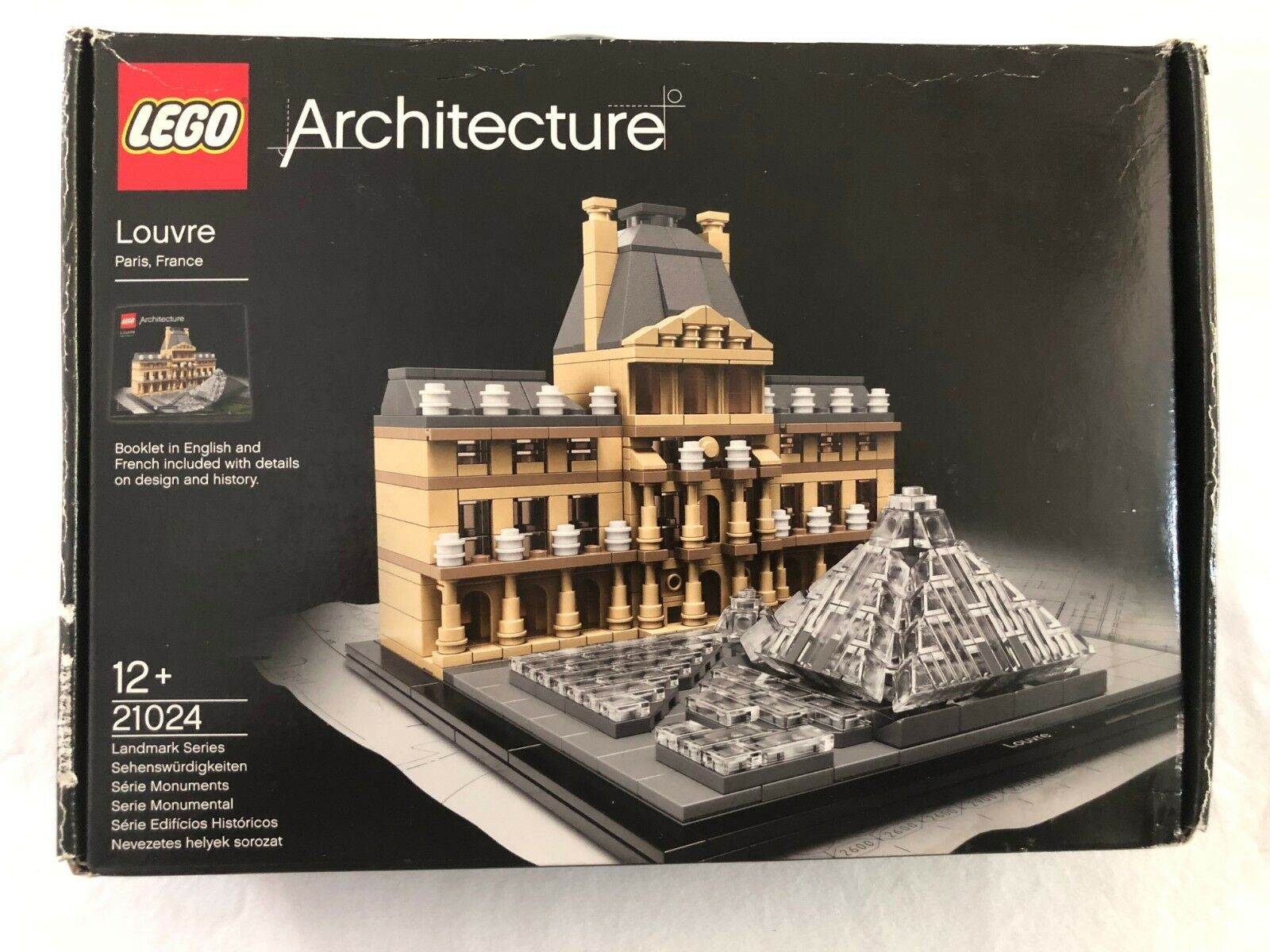 Rarity and htf lego 21024 Building Louvre - Factory sellated