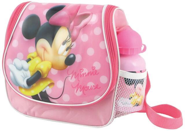 Disney Minnie Mouse Rosa Fiambrera con Zumo Botella