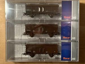 H0-ROO-66195-Set-3-x-Schiebedachwagen-Tc-der-OBB-Ep-IV-OVP-neu