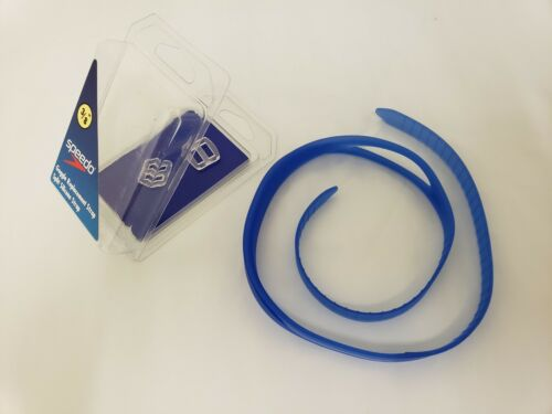 LOT OF 2 Speedo Goggle Replacement Split Silicone Strap Yellow Blue Purple J