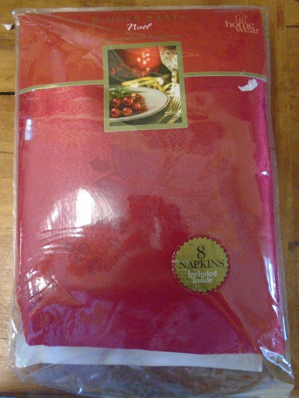 Home Wear Dinner Party Noel Tablecloth Oblong  8 Eight Napkins Christmas New rot