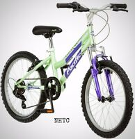 Pacific Evolution 20 Inch Girl's Mountain Bike 6-speed Steel Frame Green on sale