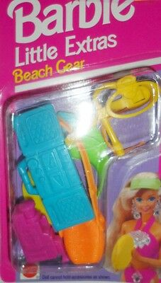 Barbie Little Extras Beach Gear New