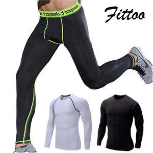 Mens Compression Thermal Under Base Layer Pants Sport Gym Leggings Trouser m-3xl