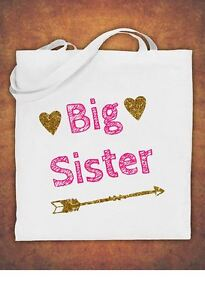 Image Is Loading Big Sister Birthday Present Gift Baby Kids Tote