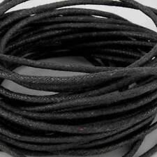 10 metros X 2mm Negro Algodón Encerado Cord Tanga Cadena para Pulseras Y Collar