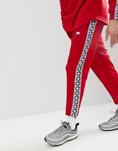 Details zu BNWT TN TECH FLEECE POLY RED NIKE AIR MAX PANTS BOTTOMS JOGGERS SLIM FIT MEN