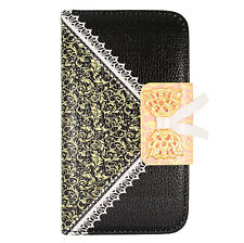 LG Optimus F60 Tribute Transpyre LS660 MS395 Lace Folio Wallet Case w/ID Slot