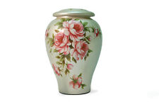 White Ceramic Adult 200 Cubic Inch Funeral Cremation Urn for Ashes
