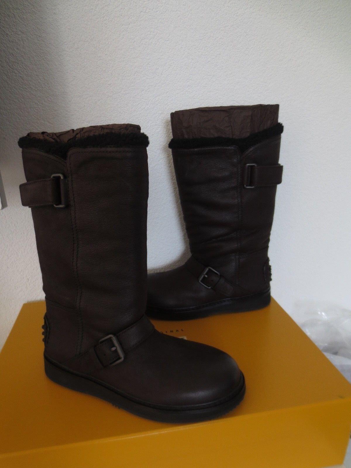 Car Shoe By Prada botas marrón de cuero Capra antic forradas nuevo