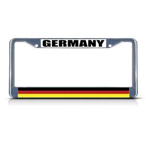 GERMANY-GERMAN-DEUTSCHLAND-Metal-License-Plate-Frame-Tag-Border-Two-Holes