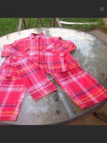 Victoria Secret 3-piece Red Plaid Pajama Set
