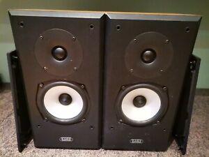 Acoustic Energy Aegis una estantería altavoces 120W Par De Efecto Madera Con Parrillas