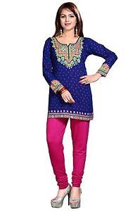 Alerte Indian Designer Crepe Kurta Blouse Tops Kurtis-tuniques Pour Femmes-afficher Le Titre D'origine