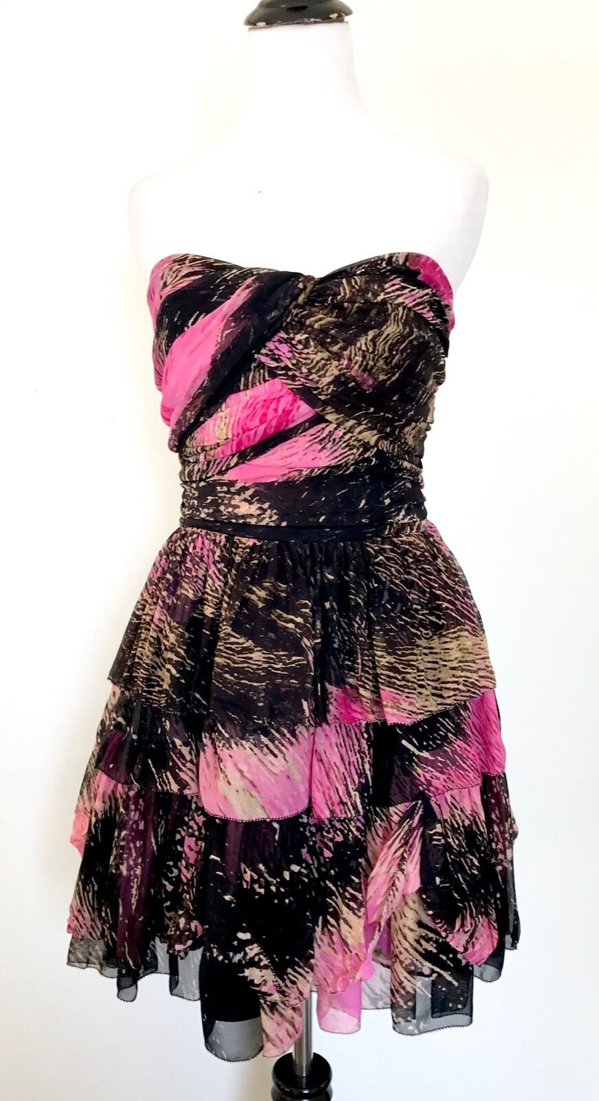 Diane Von Furstenberg Silk Strapless Strapless Strapless Dress. NWT Retail  598 Price  160 Size 10 a47ac2