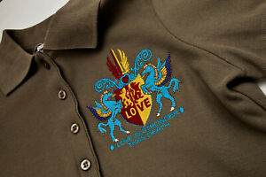 Damen-Poloshirt-034-Love-Is-Stronger-Than-Death-034