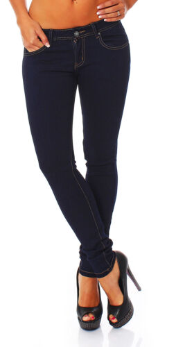 Damen Jeans Hose Hüfthose Hüftjeans Stretch Röhrenjeans Skinny Röhre Slim 948
