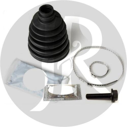 VW PASSAT 1.9 TDi SPORT DRIVESHAFT HUB NUT//BOLT /& CV JOINT BOOT KIT 99/>05