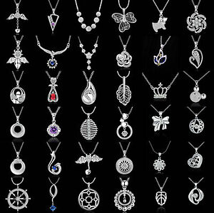 Fashion-Charm-Jewelry-Crystal-925-Silver-Filled-Pendant-Chain-Necklace-61-72
