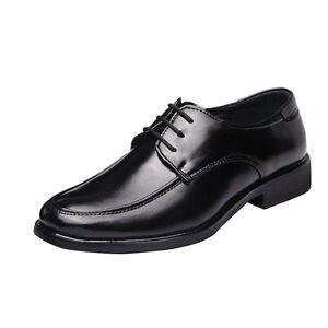 Fashion Men S Business Leather Shoes Slip On Work Dress Oxfords