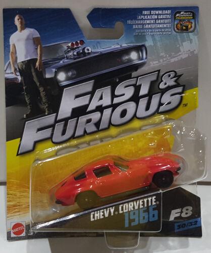 MATTEL 1:55 Fast /& Furious Chevy Corvette 1966 f8 30//32 fcn87//fcf35