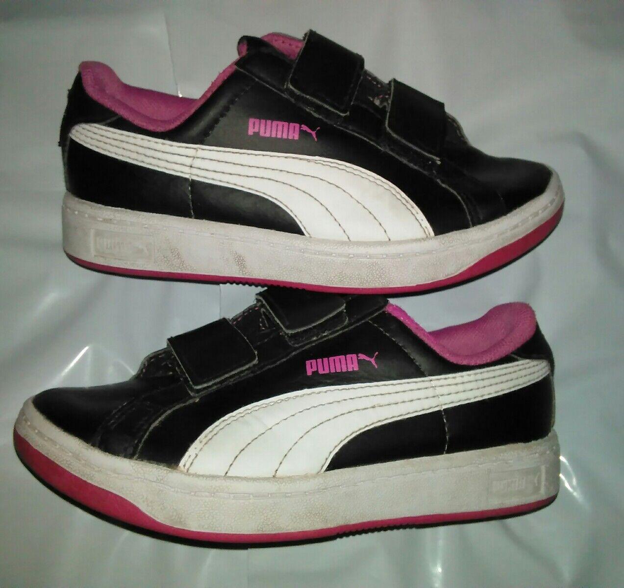 Puma girls sz 12, old school, black