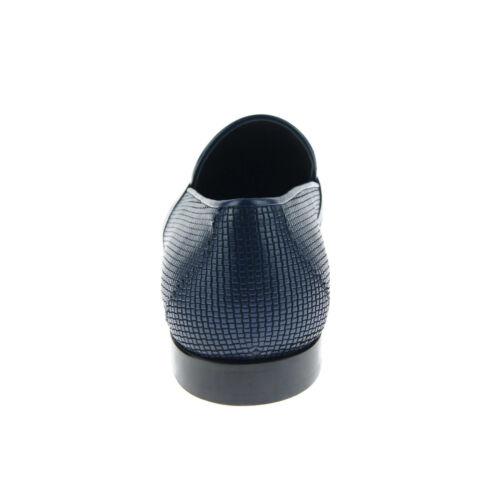 Non Stringato Pelle Mocassini Uomo Blu Corrente Intrecciato Bit 4905 Scarpe In Uwf66qX