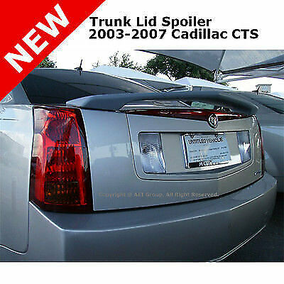 03-07 Cadillac CTS 4DR Sedan Rear Trunk Lip Spoiler Primer Unpainted ABS