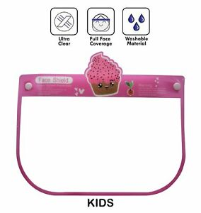 Safety Full Face Shield Kids Reusable Washable Protection Cover Face Mask Packs