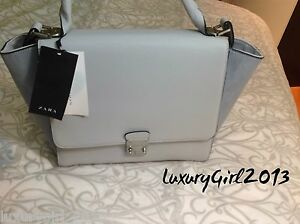 3373ef18026 LAST CHANCE ZARA BLUE COMBINED CITY BAG WITH BUCKLE Ref.4068/004 | eBay