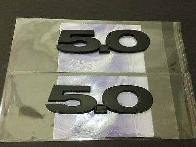 2 GT 5.0 Matte Black Emblem Set F150 Coyote 5.0L Flat Decalor For Ford Mustan