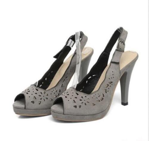 Women/'s Sandals Shoes Pumps High Stiletto Heel Open Toe Slingbacks Hollow Out