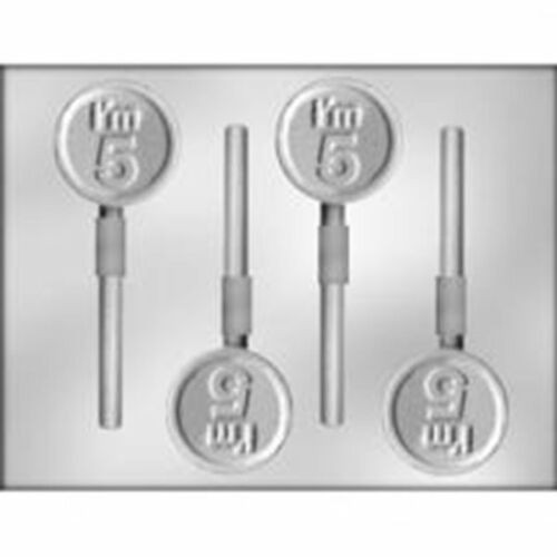 I/'M 5 SUCKER CHOCOLATE Candy  MOLD Birthday Age Lollipop