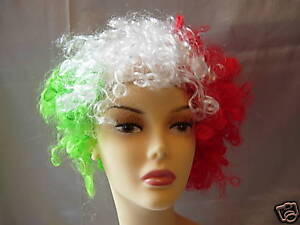ROSSO Capelli Parrucca FANCY DRESS Hen Night Party BIANCO