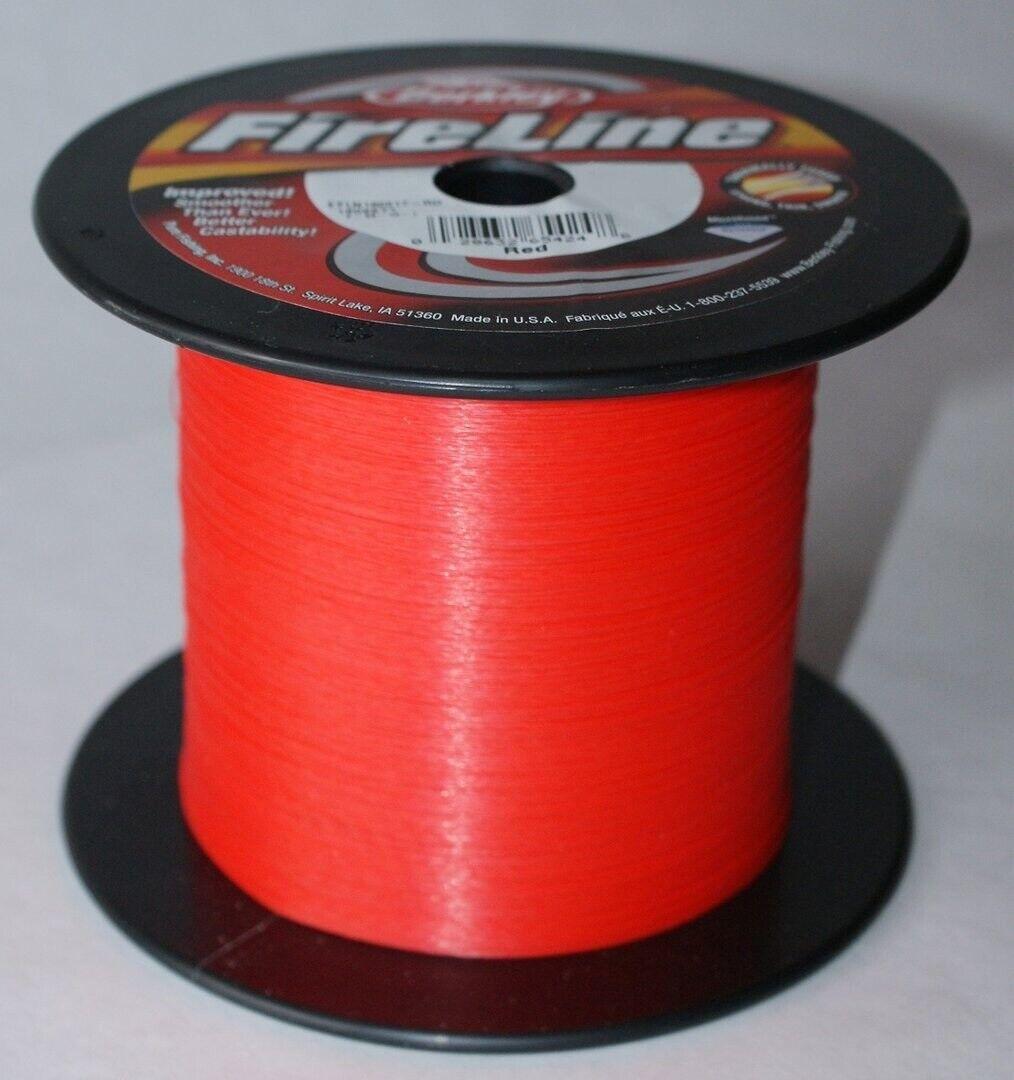 Berkley Fireline 1800M 0.15mm 7,90Kg Red Geflochtene Angel Schnur Rot Kva