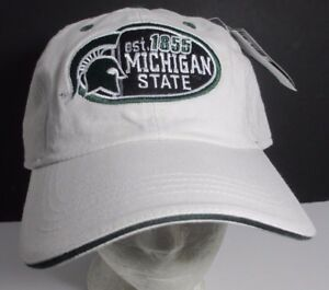 dae71f5ade7 Image is loading Michigan-State-Spartans-Hat-Ball-Cap-Embroidered-NCAA-