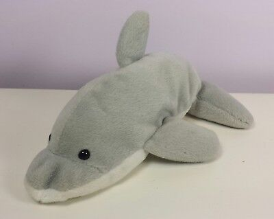 MINT with MINT TAGS TY FLASH the DOLPHIN BEANIE BABY